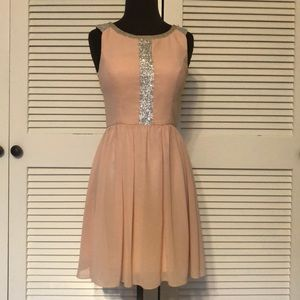Dresses & Skirts - Blush, silver cocktail Dress. Not apart $3 sale